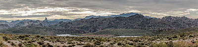Photograph - Early Morning At Saguaro Lake Panorama by Teresa Wilson