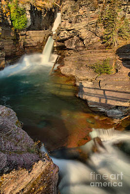 Photograph - Early Morning At St Mary Falls by Adam Jewell