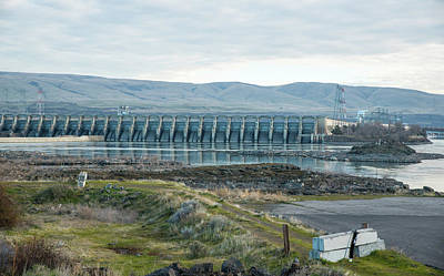 Photograph - Early Morning At The Dalles Dam by Tom Cochran