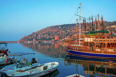 Photograph - Early Morning At The Harbor Of Alanya by Sun Travels