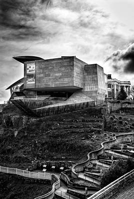 Morning Photograph - Early Morning At The Hunter Museum In Black And White by Greg Mimbs