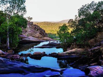 Early Morning - Cascading Rock Pools - Gunlom, Kakadu National Park Art Print