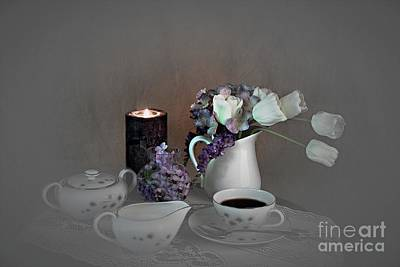 Photograph - Early Morning Coffee by Sherry Hallemeier