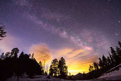 View Photograph - Early Morning Colorful Colorado Milky Way View by James BO  Insogna