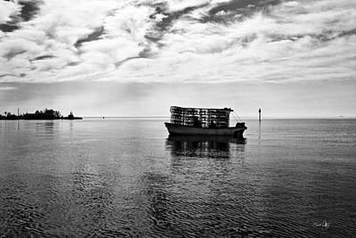 Crab Traps Photograph - Early Morning Crabber by Scott Pellegrin