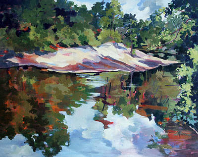 Early Morning Creekside Alabama Art Print by Rae Andrews