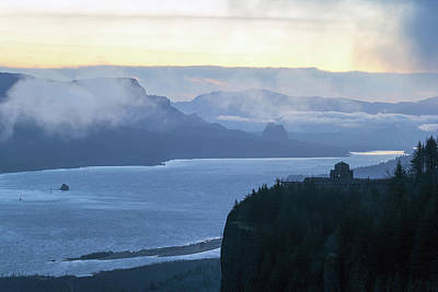 Photograph - Early Morning Dawn At Columbia River Gorge by David Gn