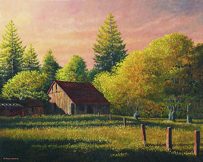 Painting - Early Morning Farm by Douglas Castleman