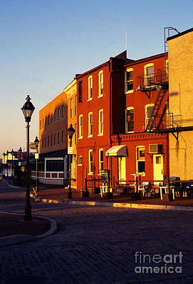 Fells Point Baltimore Maryland Photograph - Early Morning Fells Point by Thomas R Fletcher