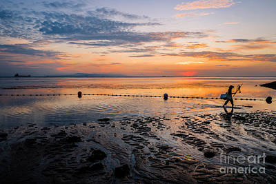 Photograph - Sunrise Fisherman by M G Whittingham