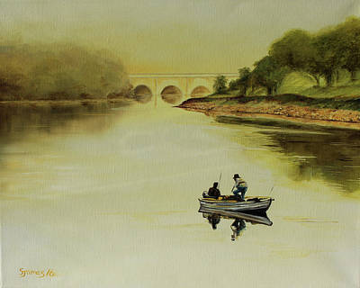 Painting - Early Morning Fishing Trip by Steve James
