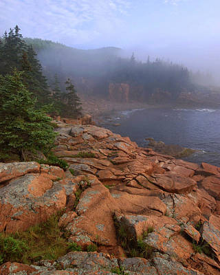 Down East Maine Photograph - Early Morning Fog  by Stephen  Vecchiotti