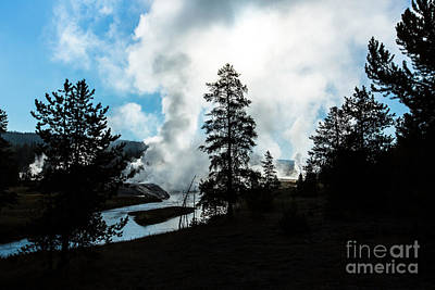 Photograph - Early Morning Geysers At Yellowstone by Ben Graham