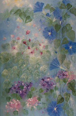 Cyclamen Painting - Early Morning Glory by Linda Rauch