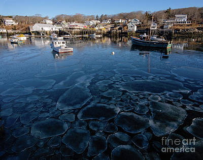 Photograph - Early Morning Ice, New Harbor, Maine  -81455 by John Bald