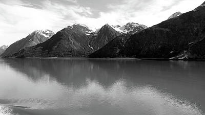Photograph - Early Morning In Glacier Bay  Black And White  by Judy Wanamaker