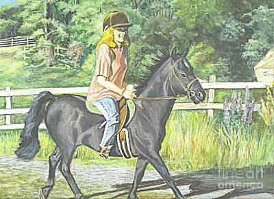 Horse Giclee Painting - Early Morning Jaunt by Carol Wisniewski