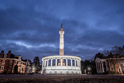 Photograph - Early Morning Jefferson Davis Statue by Doug Ash