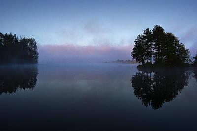 Digital Art - Early Morning Lake Nimisila by Dick Pratt