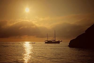 Photograph - Early Morning Light And A Passing Boat At Manta Ray Bay On Hook Island by Keiran Lusk