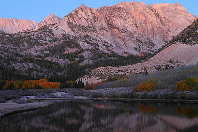 Early Morning Light At North Lake In The Eastern Sierras During Autumn Print by Jetson Nguyen