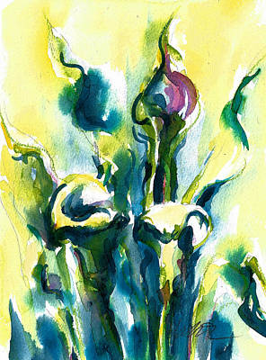Painting - Early Morning Lilies by Jacki Kellum