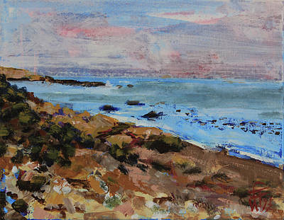 Painting - Early Morning Low Tide by Walter Fahmy