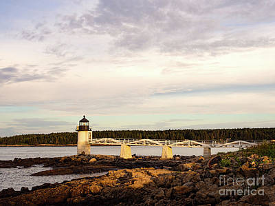 Photograph - Early Morning, Marshall Point Light, Port Clyde, Maine  -97534 by John Bald