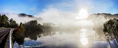 Orb Photograph - Early Morning Mist On Lake Rosebery Tasmania by Jorgo Photography - Wall Art Gallery