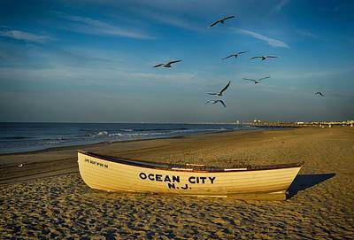 Animals Royalty-Free and Rights-Managed Images - Early Morning Ocean City NJ by James DeFazio