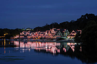 Early Morning On Boathouse Row Art Print by Bill Cannon