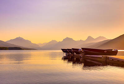 Photograph - Early Morning On Lake Mcdonald by Adam Mateo Fierro