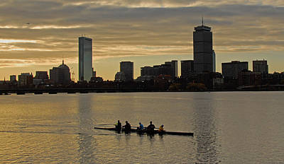 Early Morning On The Charles River Art Print