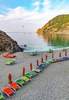 Photograph - Early Morning On The Monterosso Beach by Carolyn Derstine
