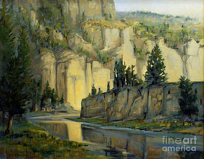 Yellowstone Drawing - Early Morning On The Smith River by Robert Spannring