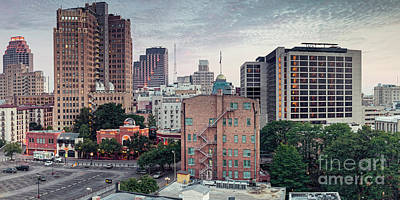 Photograph - Early Morning Panorama Of Downtown San Antonio Skyline And Architecture - Bexar County Texas by Silvio Ligutti