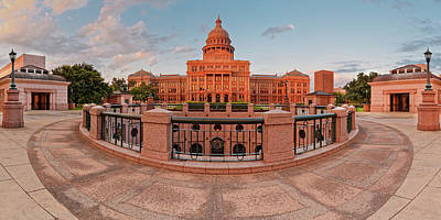 Photograph - Early Morning Panorama Of The Texas State Capitol In Downtown Austin - Texas Hill Country by Silvio Ligutti
