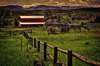 Photograph - Early Morning Pastures In The Foothills by Roger Passman