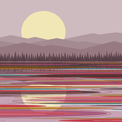 Digital Art - Early Morning Pink by Val Arie