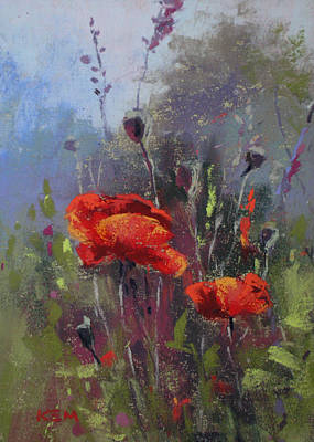 Painting - Early Morning Poppies by Karen Margulis