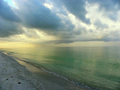 Photograph - Early Morning Rain At Sanibel Island by Judy Wanamaker