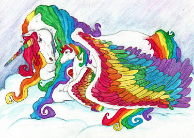 Early Morning Rainbows Art Print by Leah Marie King