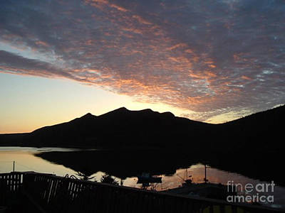 Art Print featuring the photograph Early Morning Red Sky by Barbara Griffin