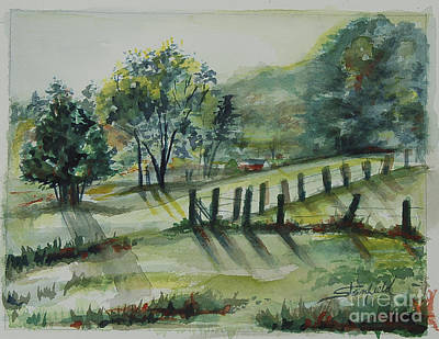 Smokey Mountains Painting - Early Morning Riser by Johnnie Stanfield