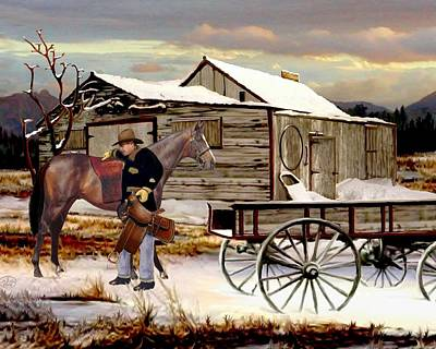Painting - Early Morning Ride by Ron and Ronda Chambers