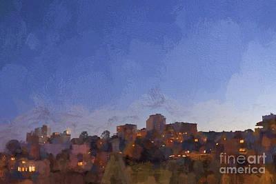 Light Paint Photograph - Early Morning San Francisco - Painterly by David Gordon