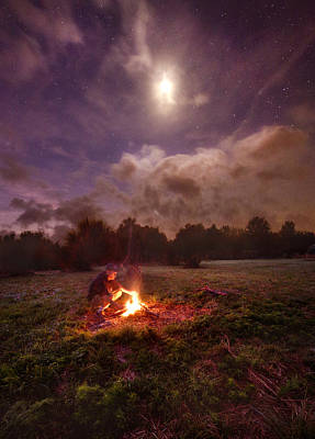 Campfire Photograph - Early Morning Solitude by Phil Koch