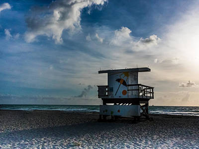 Photograph - Early Morning South Beach by Robin Zygelman
