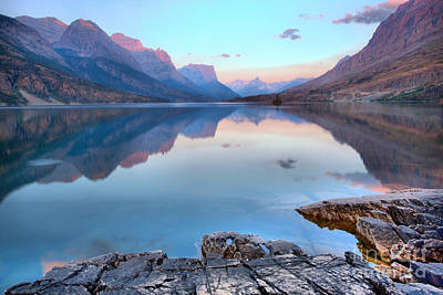 Photograph - Early Morning Sun At Glacier St Mary by Adam Jewell