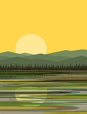 Early Spring Digital Art - Early Morning Sun by Val Arie
